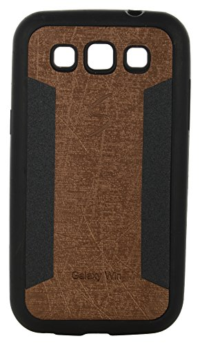 iCandy™ 2 Color Soft Lather Finish Back Cover For Samsung Galaxy Grand Quattro I8552 - Golden  available at amazon for Rs.115