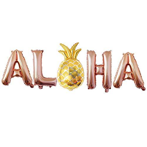 Longra Sommerfest Partydekoration, Latex Air Ballon mit Konfetti für Tropischen Sommer Party Supplies Luau Hawaii Thema Party mit Ananas Helium Ballons (Ihre Hawaii-dekorationen Machen Sie Eigenen)