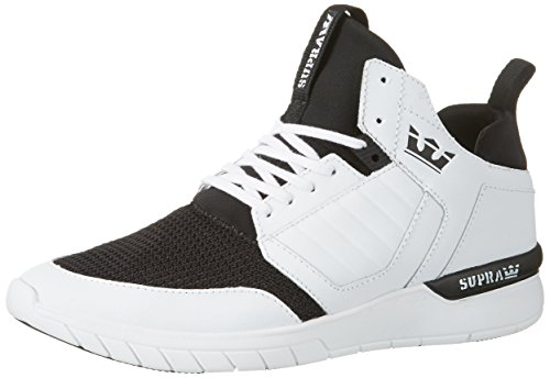 Supra Herren Method High-Top Sneaker, Weiß (White-White), 44 EU