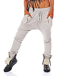 10546 Fashion4Young Damen Haremshose Hose Baggy Boyfriend Freizeithose Jogginghose Sporthose 5 Größen