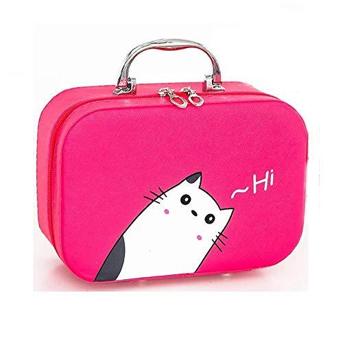 Kosmetiktasche,pu Tragbare Große Kapazität Weibliche Multifunktion Kosmetiktasche Aufbewahrungsbox...