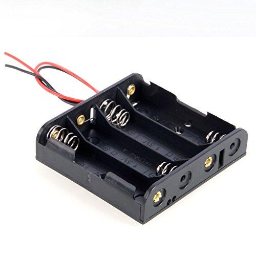 DollaTek 4 x AA 6V Batterie-Halter-Kasten-Kasten Wired ON/Off Schalter und Abdeckung