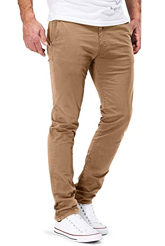 DSTROYED ® Chino Herren Slim fit Chinohose Stretch Designer Hose Neu 505 (32-34, 505 Braun) Slim Fit Chino