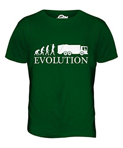 CandyMix Müllwagen Evolution Des Menschen Herren T Shirt Flaschengrün