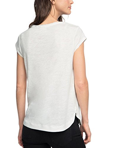Esprit 076ee1k004, T-Shirt Femme Blanc (OFF WHITE 110)