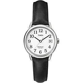 Timex Women Quartz Easy Reader Date Watch with Dial Analogue Display and Leather Strap