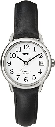 timex-womens-t2h331-quartz-easy-reader-date-watch-with-white-dial-analogue-display-and-black-leather