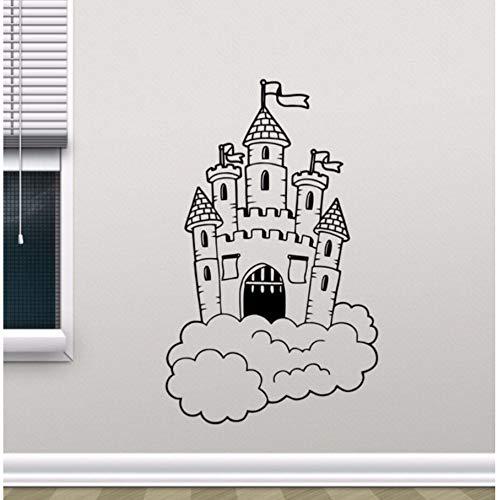 bare Burg In Wolken Wandtattoo Kindergarten Wandbild Kinder Schlafzimmer Dekor Magic Kingdom Vinyl Aufkleber Kinderzimmer Dekor ()