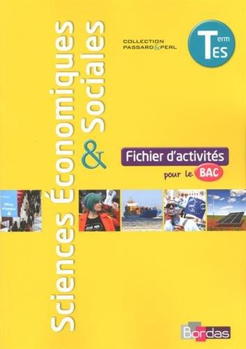 Sciences conomiques et sociales Tle ES  Fichier d'activits