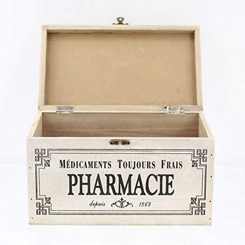 41Dz7bHowCL - SIDCO Medicinal Buzón Madera Botiquín Primeros Auxilios Box Clayre & Eef Casa Decorativa Almacenamiento