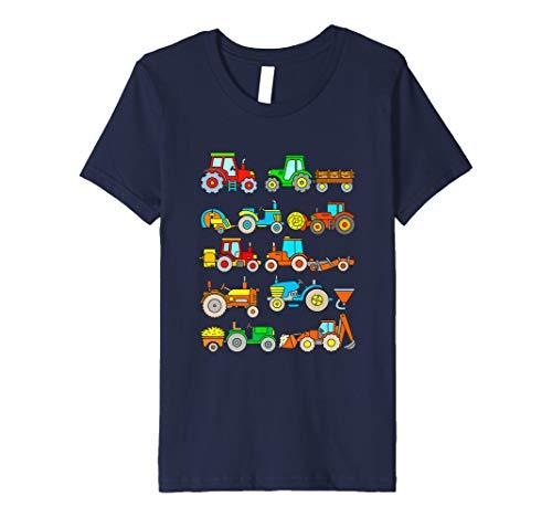 Kinder Traktoren Trecker Jungs Bauernhof Fahrzeuge T-Shirt