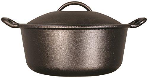 Lodge 3.78 litre / 4 quart Pre-Seasoned Cast Iron Dutch Oven (with Loop Handles)