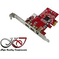 © KALEA-INFORMATIQUE-Tarjeta controladora PCIe FIREWIRE 800 y 400 (Ieee1394a) (ieee3194b) chipset TI TEXAS INSTRUMENTS con xio 2213-2 serie 1 puertos PCI, PCIe profesional y componentes de alta calidad y prácticos Préinstallés, para Windows, Mac y Linux, color negro