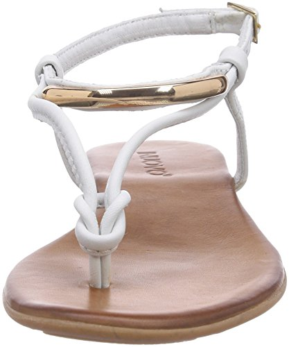 WHITE Bianco Sandali LEATHER Donna Inuovo Aperti SUNKISS wxazOqy6f0