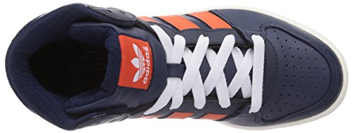 adidas Pro Play 2 Unisex-Erwachsene Hohe Sneakers Blau (Collegiate Navy/Collegiate Orange/Ftwr White)