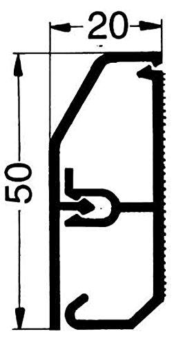 Preisvergleich Produktbild Rehau Elektro.Inst. SL Kanal 17275011100 20/50 rws SL 50 Sockelleistenkanal komplett 4007360063245
