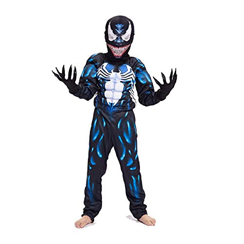 Diudiul Venom Spiderman Kostüme für Kinder Action Dress Ups und Zubehör Party Cosplay Kostüm