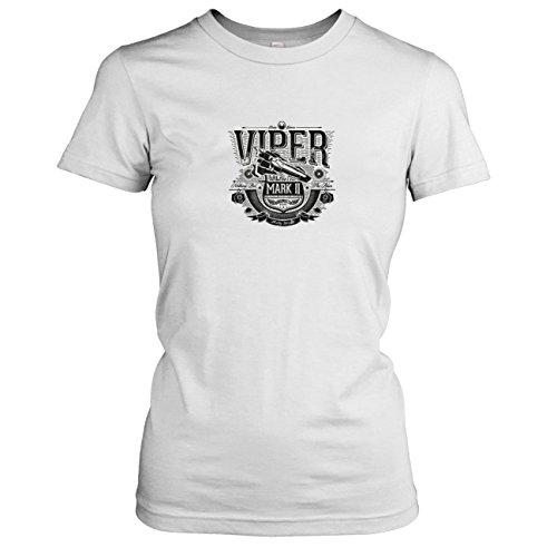 TEXLAB - Galactica Viper - Damen T-Shirt, Größe XL, weiß