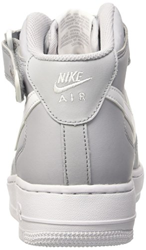 Nike Air Force 1 Mid 07, Scarpe da Basket Uomo Multicolore (Wolf Grey/White)