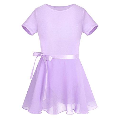 zarm Kleider Sommer Sportkleid Tank Top Ballett Trikot Baumwolle Ballettanzug Tanzkleidung Gr. 98-164 (98-104, Violett) (Tanzen Kostüme Für Kinder)