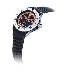 40Nine Mens 40NINE01/BLACK40 Extra Large 50mm Analog Display Japanese Quartz Black Watch