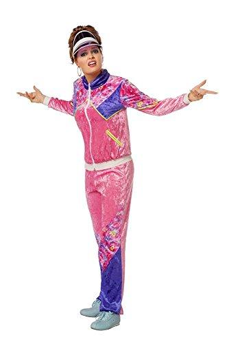 Deluxe Rosa Hexe Kostüm - Wilbers Kostüm Jogging Anzug 80er Jahre