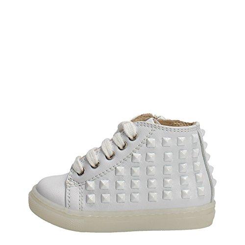 Florens E6444 Sneakers Bambina Pelle Bianco Bianco 26