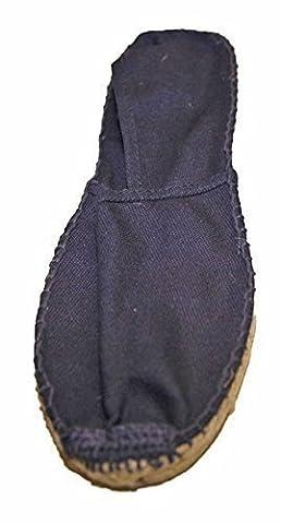 Espadrilles homme en toile cousue main semelle caoutchouc et corde