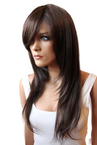 PRETTYSHOP Mode perruque les cheveux longs lisse volumineux résistant à la chaleur chocolat noir brun # 2/33 FZ505