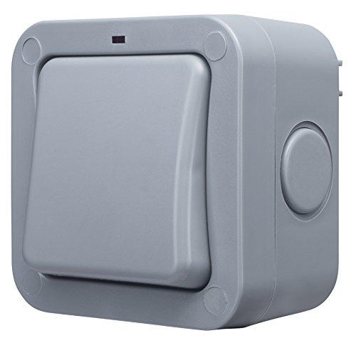 Membran-schalter (BG Electrical WP12 IP66 im Freien wetterfester 20AX einzelner 2 Weisen Schalter)