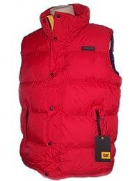 Caterpillar Homme Vestes de sport Mens Gilet Padded Bodywarmer Pinnacle Stormblocker 5 Colours M L XL XXL 3XL 4XL 5XL NEW BLACK, NAVY, RED, SEAPORT BLUE, ARMY GREEN NEW (Red, 4XL)