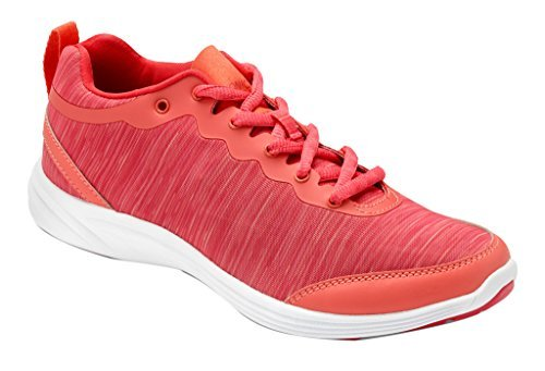 Vionic With Orthaheel Technology Womens Fyn Lace Up Sneaker Deep Sea Coral