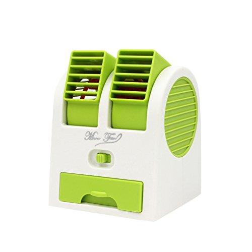 LEDMOMO angulos ajustables USB Electrica Aire acondicionado mini ventilador del refrigerador