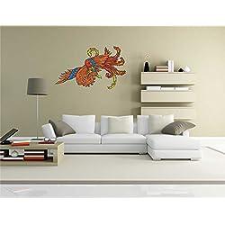 Vinilo adhesivo para pared - de dragón chino China-chinesemyth19 - decorativo para pared, 70 cm x 43 cm