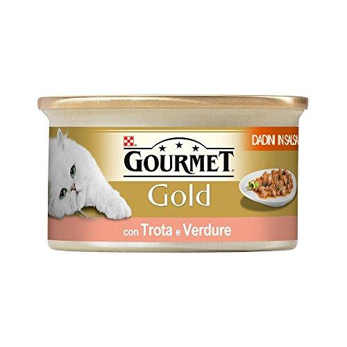 GOURMET GOLD Cubes truite et légumes en sauce gr 85 Aliment humide chat