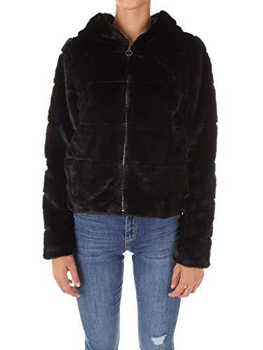 fake fell jacke ONLY Damen Jacke onlCHRIS FUR Hooded Jacket CC OTW, Schwarz Black, 34 (Herstellergröße: XS)