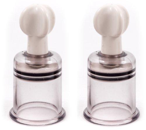 Nippelsauger Brustpumpe Bruststimulation mit EXTREM Saugkraft Brustwarzen Vergrößerung und Klitoris Sucker by DEVOTION, Größe L 38 mm