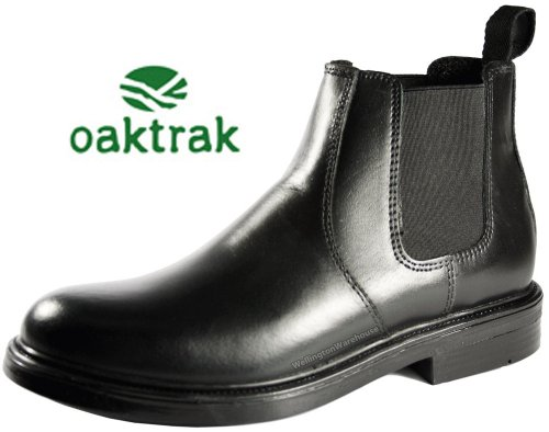 Oaktrak Walton Leather School Wedding Chelsea Boots Chestnut Tan Black Jodhpur Brown...