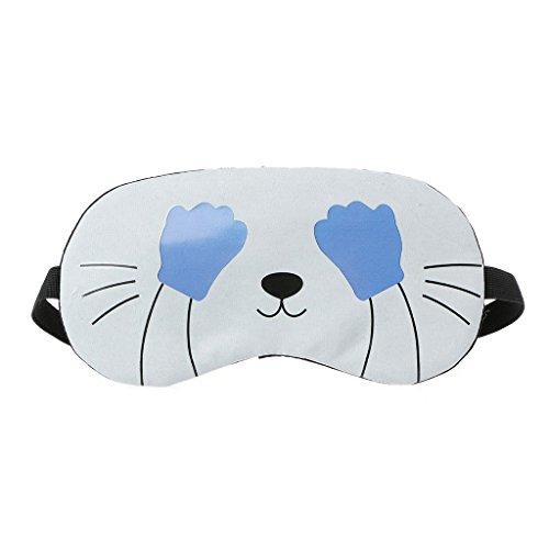 Preisvergleich Produktbild Cold Toy Seide Schlaf-Augenmaske Augenbinde,  flauschig,  niedliche Tiere,  Katze / Eule / Panda oder Kaninchen ( 1)