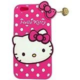 JBG 3D mignon silicone souple Polka Dots Case Pendentif pour iPhone 6 4.7 Hot Pink