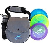 Kestrel Disco Disco de Juego de Golf Pro | 3Pro Pack Bundle + Bolsa | Disc Golf Set | Incluye Distancia Conductor, Medio y Putter | Frisbee Golf Set, Gris