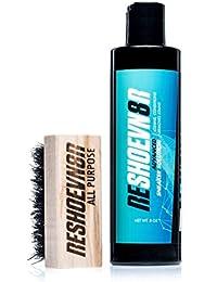 Reshoevn8r avanzada solución de limpieza 8oz botella y cepillo Kit–Limpiador de zapatos, apto para piel, ante y Flyknit