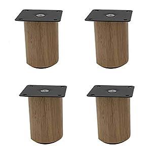 KMILE Massivholz-Möbelbeine,Ersatz Sofa Couch Stuhl Couchtisch Schrank Möbel Holzbeine,Stützbeine,Möbelersatzfüße,Gummi…