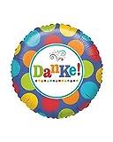 Horror-Shop Folienballon mit Danke Aufdruck & Punkten als Geschenkidee
