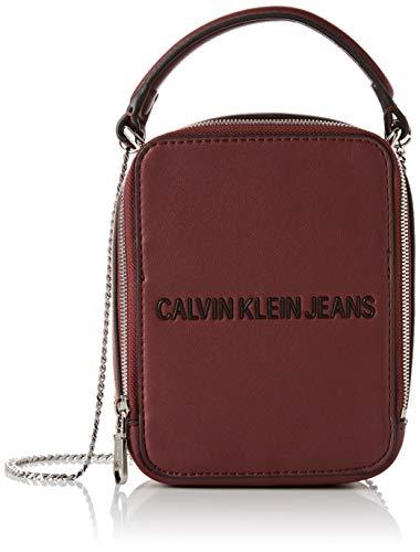 Calvin Klein Damen Sculpted Ns Camera Bag Umhängetasche, Violett (BEET RED), 16x12x9cm