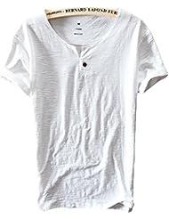 Insun Hommes T-Shirt Polo en Coton Manches courtes Tees Printemps Eté Tops