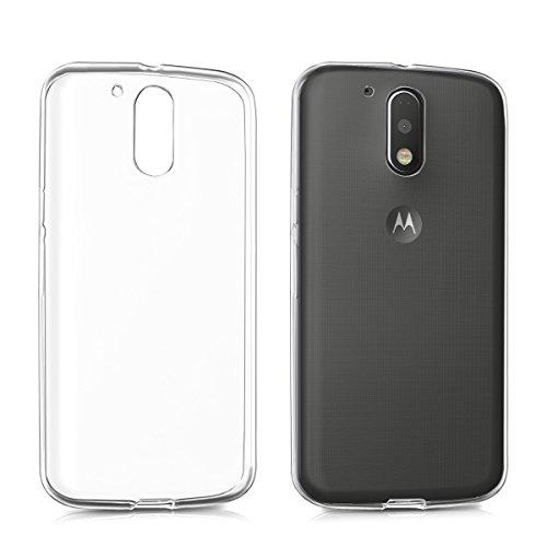 kwmobile Hülle für Motorola Moto G4 / Moto G4 Plus - TPU Silikon Backcover Case Handy Schutzhülle - Cover klar Transparent