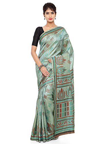 Kunish fashion Presents latest Fancy new arrival High Quality jacquard Women's Printed Sarees Sari (Tourquoise_Free Size_Sarees)