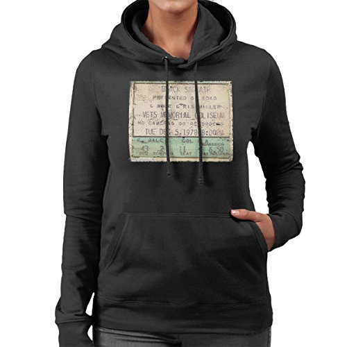 Black Sabbath Vets Memorial Coliseum 1978 Women's Hooded Sweatshirt