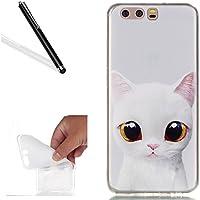 Hülle für Huawei P10,Case für Huawei P10,Leeook Kreativ Retro Cute Weiß Katze Muster Entwurf Weiche Silikon Schutzhülle... preisvergleich bei billige-tabletten.eu
